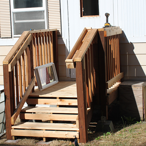 Back door with no porch or steps